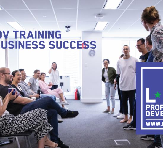 Improv for Business Workshops Classes Team Building Fun, Fun Team Building Activities for Business, teambuilding